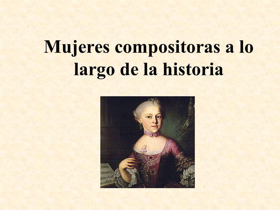 Mujeres compositoras a lo largo de la historia