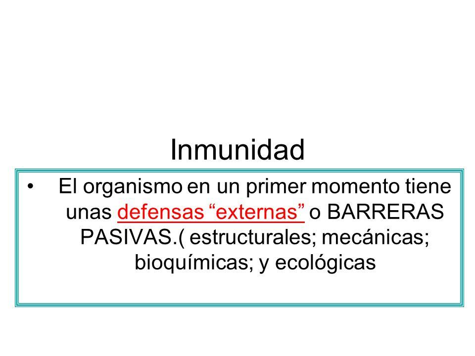 Específicas.Inmunidad Su mecanismo de acción: Participan varios tipos de células y de sustancias.