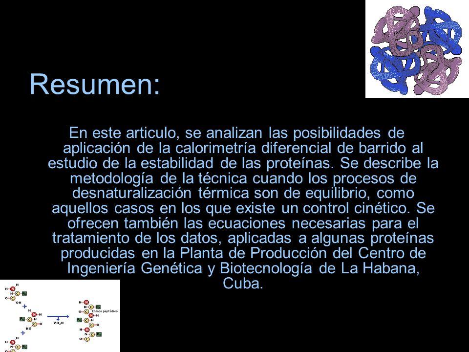 Resumen: En este articulo, se analizan las posibilidades de aplicación de la calorimetría diferencial de barrido al estudio de la estabilidad de las p
