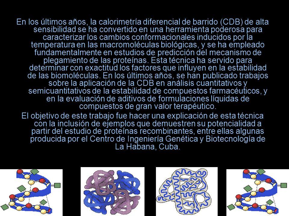 En los últimos años, la calorimetría diferencial de barrido (CDB) de alta sensibilidad se ha convertido en una herramienta poderosa para caracterizar