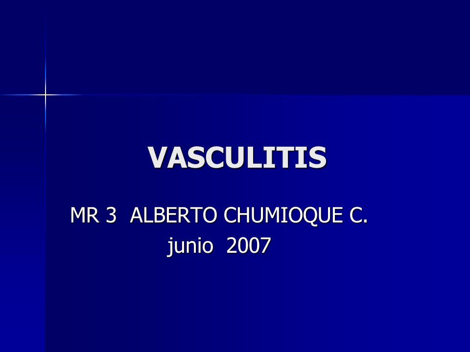 VASCULITIS La vasculitis es un proceso clínico patológico caracterizado por inflamación y necrosis de los vasos sanguíneos, que provoca isquemia distal a la lesión en los órganos y territorios irrigados por estos vasos.