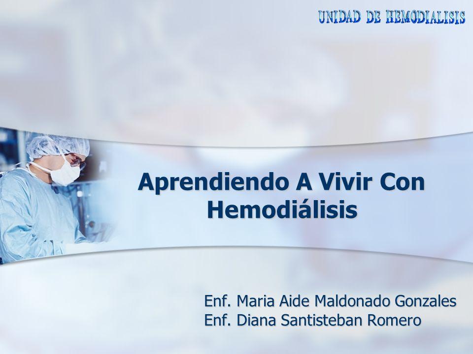 Aprendiendo A Vivir Con Hemodiálisis Enf. Maria Aide Maldonado Gonzales Enf. Diana Santisteban Romero