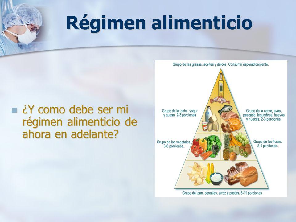 Régimen alimenticio ¿Y como debe ser mi régimen alimenticio de ahora en adelante? ¿Y como debe ser mi régimen alimenticio de ahora en adelante?