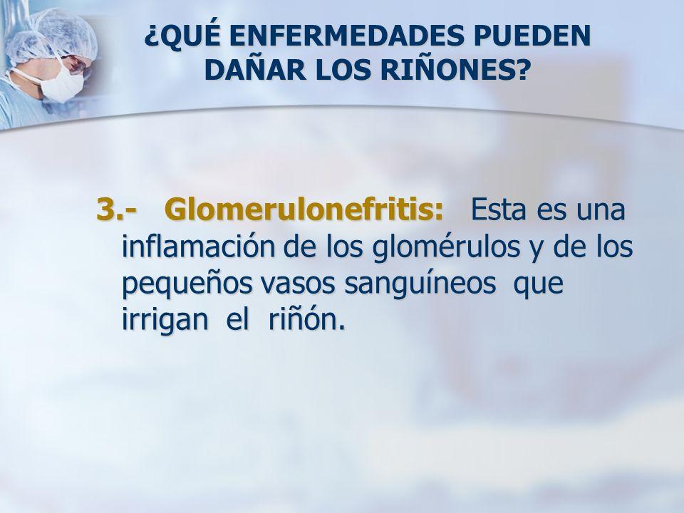Durante una insuficiencia renal, la cantidad de orina que el cuerpo produce disminuye y el gasto urinario usualmente se detiene por completo una vez que los pacientes están con diálisis por más de 6 meses.