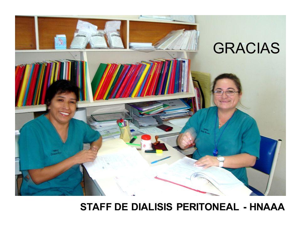 STAFF DE DIALISIS PERITONEAL - HNAAA GRACIAS