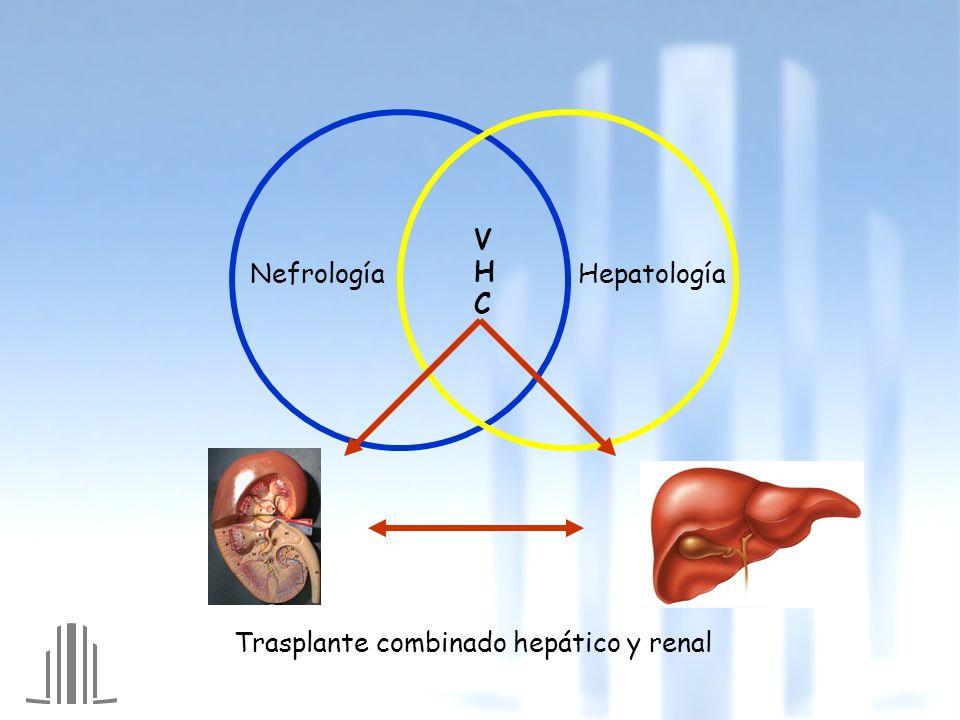 Insuficiencia renal crónica Hepatitis no A no B Circuitos extracorpóreos Transfusiones: Ausencia EPO Inducción hiporrespuesta para tx Cambio radical Identificación VHC EPO Aislamiento de monitor Tratamiento antiviral
