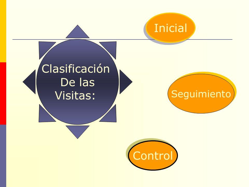 Clasificación De las Visitas: Inicial Control Seguimiento