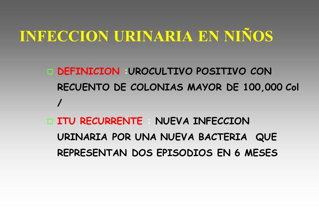infeccion urinaria en ninos:
