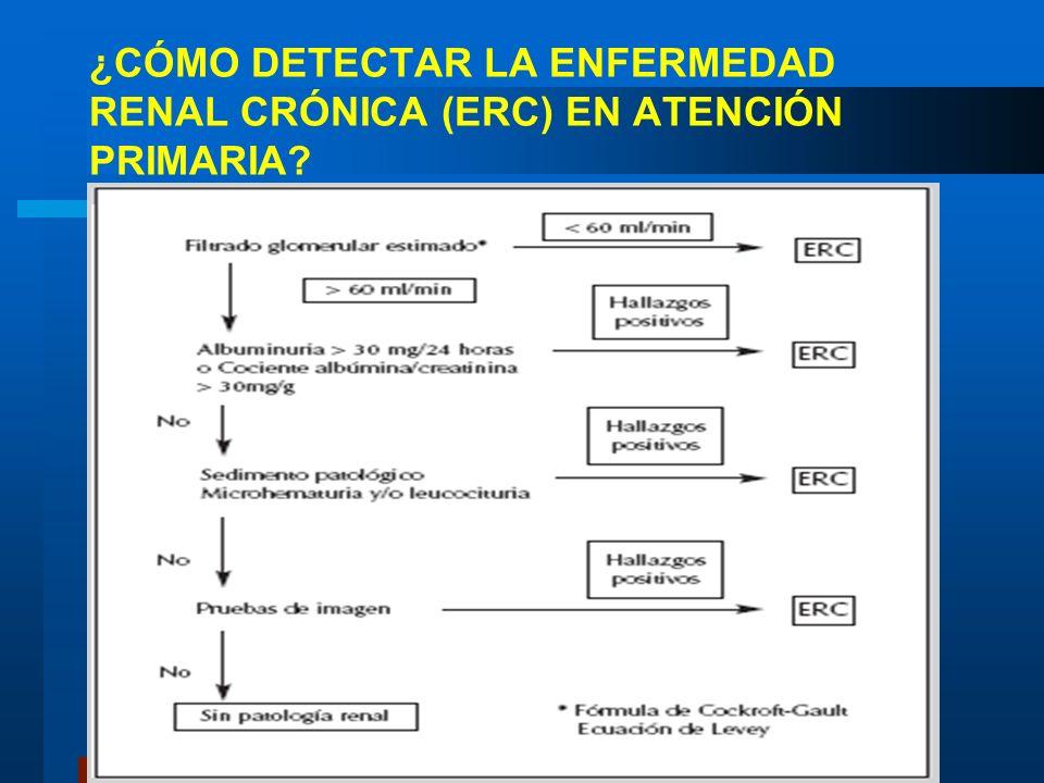 ¿CÓMO DETECTAR LA ENFERMEDAD RENAL CRÓNICA (ERC) EN ATENCIÓN PRIMARIA?