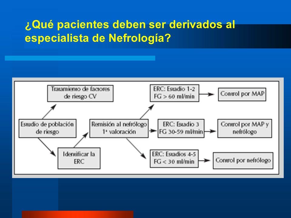 ¿Qué pacientes deben ser derivados al especialista de Nefrología?