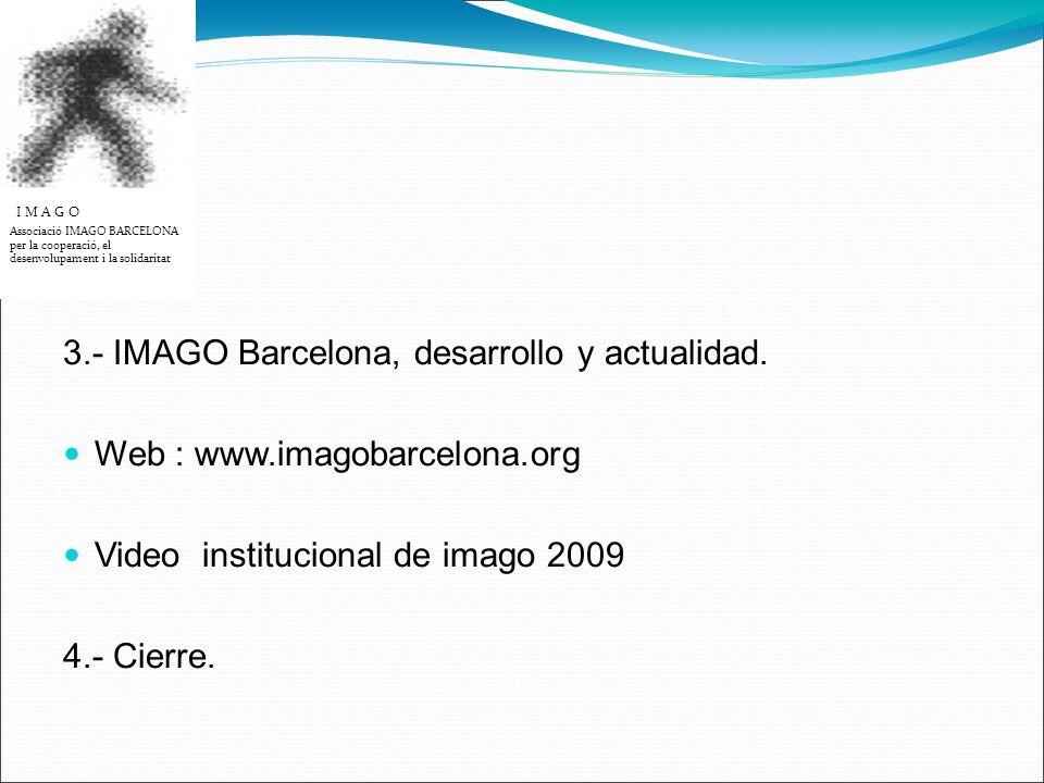 3.- IMAGO Barcelona, desarrollo y actualidad.