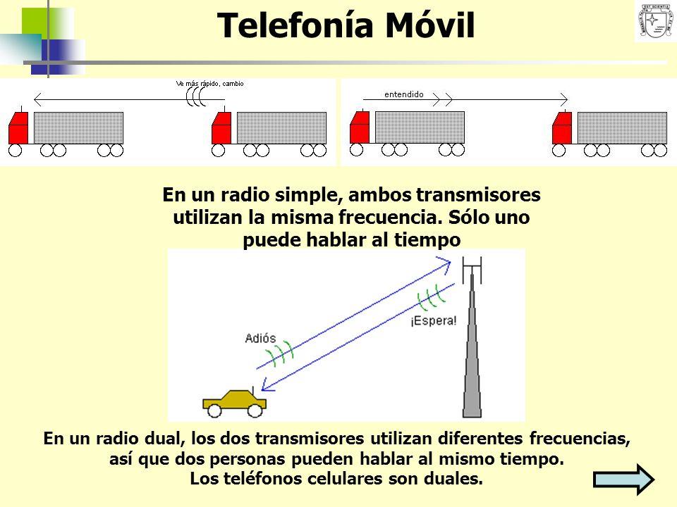 En un radio simple, ambos transmisores utilizan la misma frecuencia. Sólo uno puede hablar al tiempo En un radio dual, los dos transmisores utilizan d