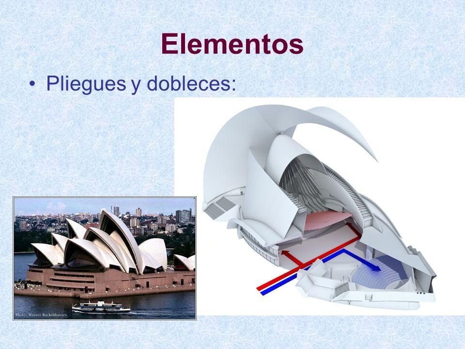 Elementos Pliegues y dobleces: