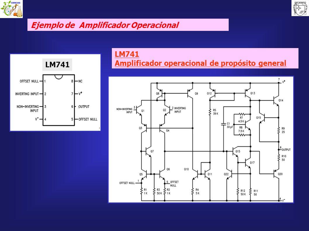 LM741 Amplificador operacional de propósito general Ejemplo de Amplificador Operacional LM741