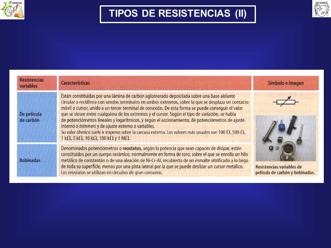 TIPOS DE RESISTENCIAS (II)