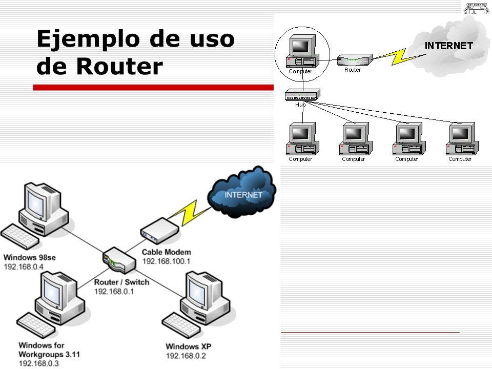 Ejemplo de uso de Router