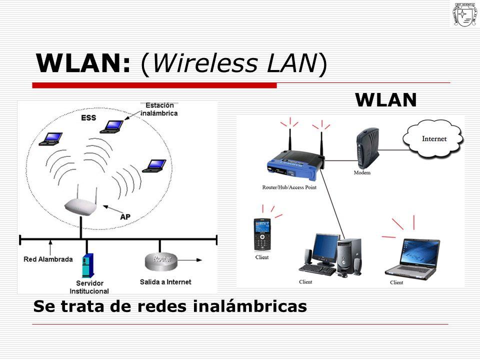 WLAN: (Wireless LAN) WLAN Se trata de redes inalámbricas