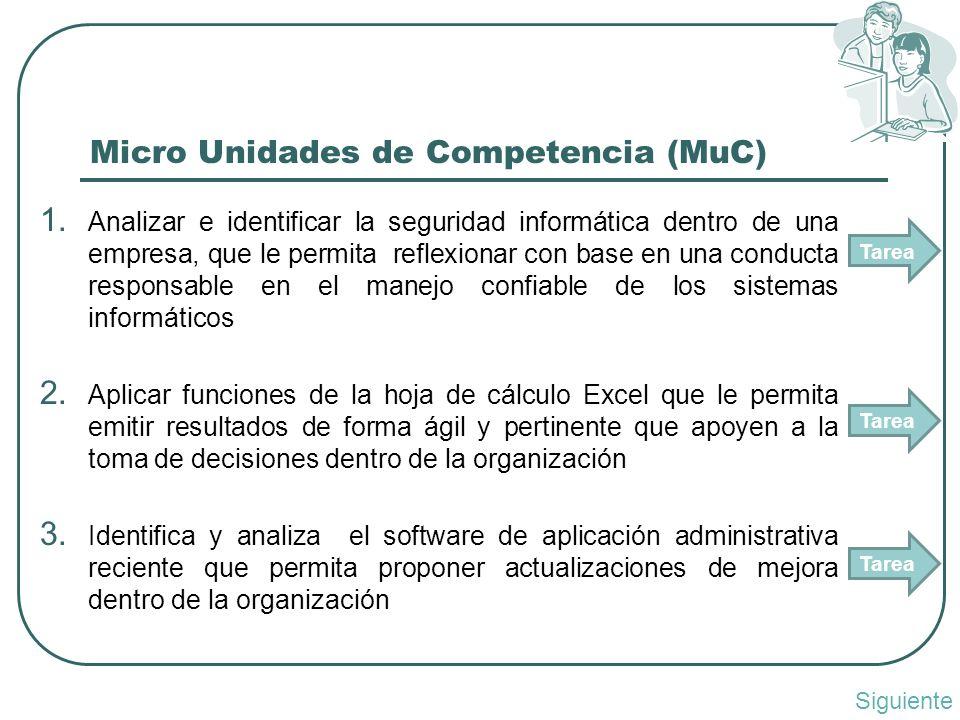 Micro Unidades de Competencia (MuC) 1.