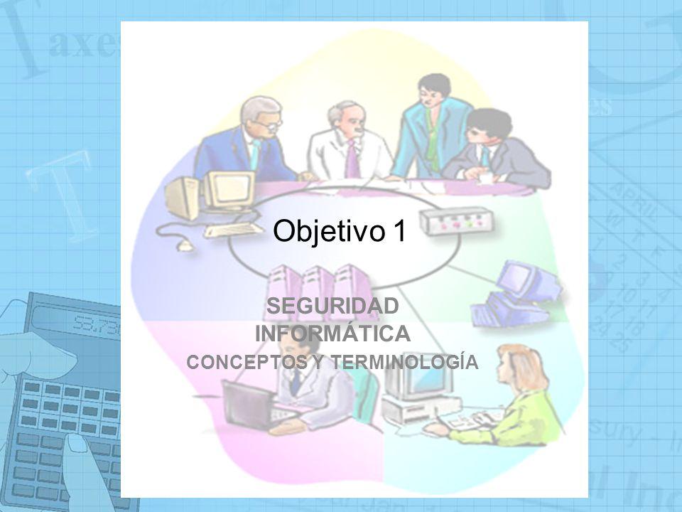 Objetivo 1 SEGURIDAD INFORMÁTICA CONCEPTOS Y TERMINOLOGÍA