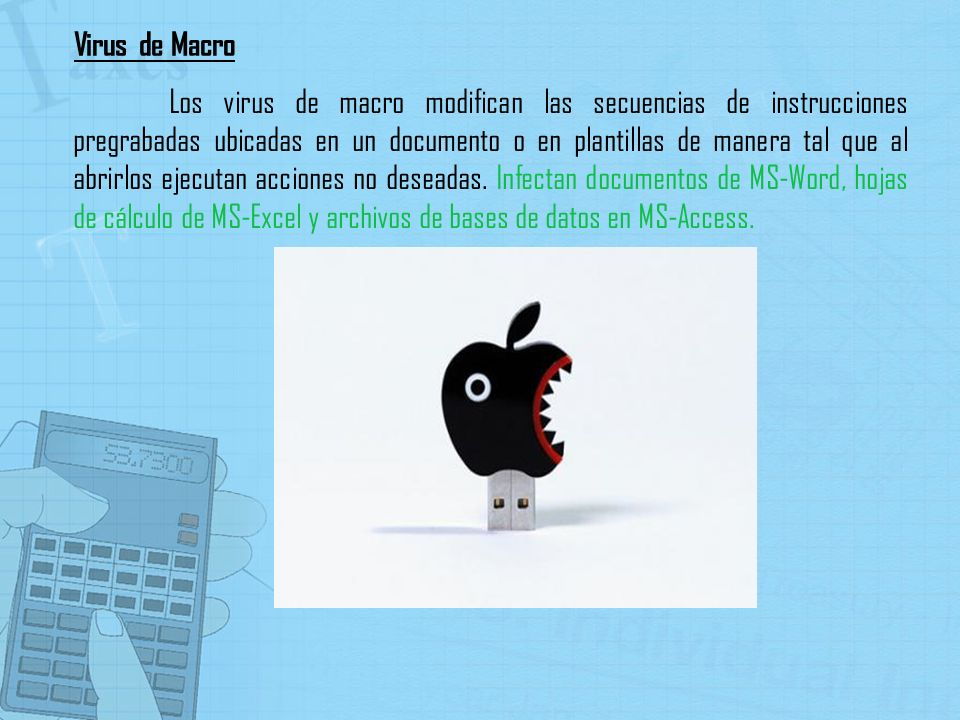 Los virus de macro modifican las secuencias de instrucciones pregrabadas ubicadas en un documento o en plantillas de manera tal que al abrirlos ejecut