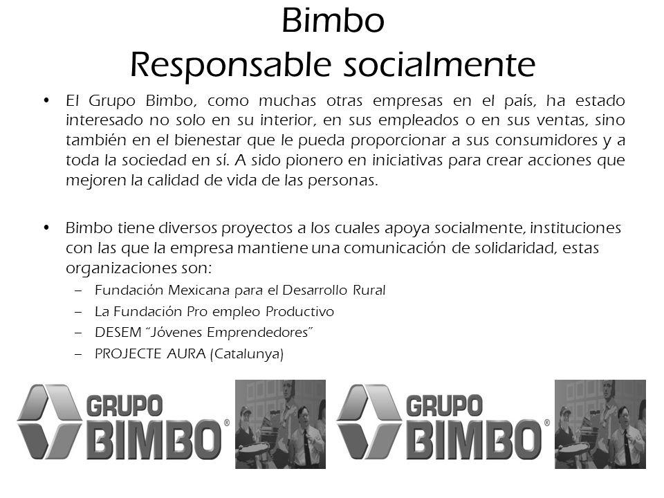 Bimbo Responsable socialmente El Grupo Bimbo, como muchas otras empresas en el país, ha estado interesado no solo en su interior, en sus empleados o e