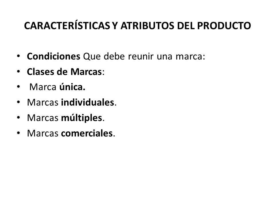 Condiciones Que debe reunir una marca: Clases de Marcas: Marca única. Marcas individuales. Marcas múltiples. Marcas comerciales.