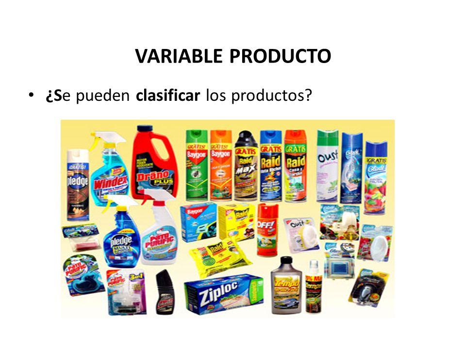 VARIABLE PRODUCTO ¿Se pueden clasificar los productos?