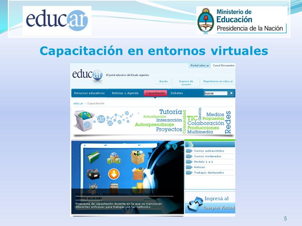 5 Capacitación en entornos virtuales
