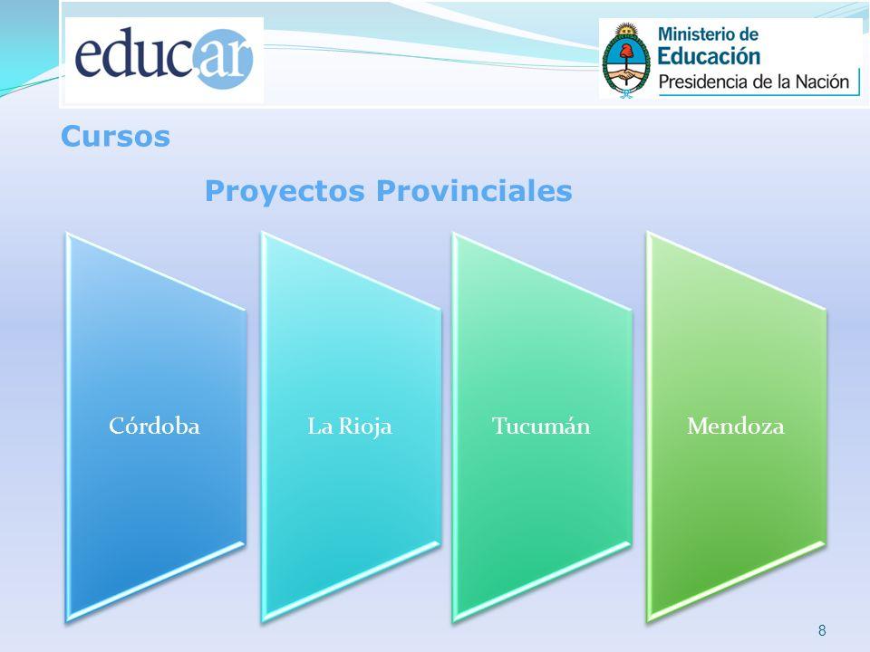 8 Cursos CórdobaLa RiojaTucumánMendoza Proyectos Provinciales