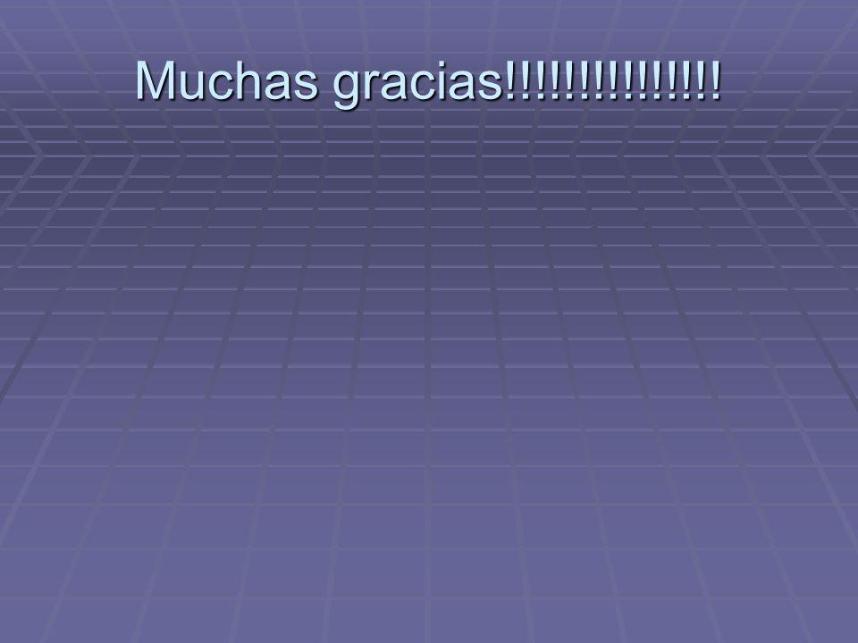 Muchas gracias!!!!!!!!!!!!!!!