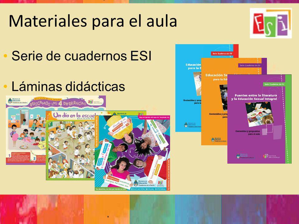 Materiales para el aula Serie de cuadernos ESI Láminas didácticas