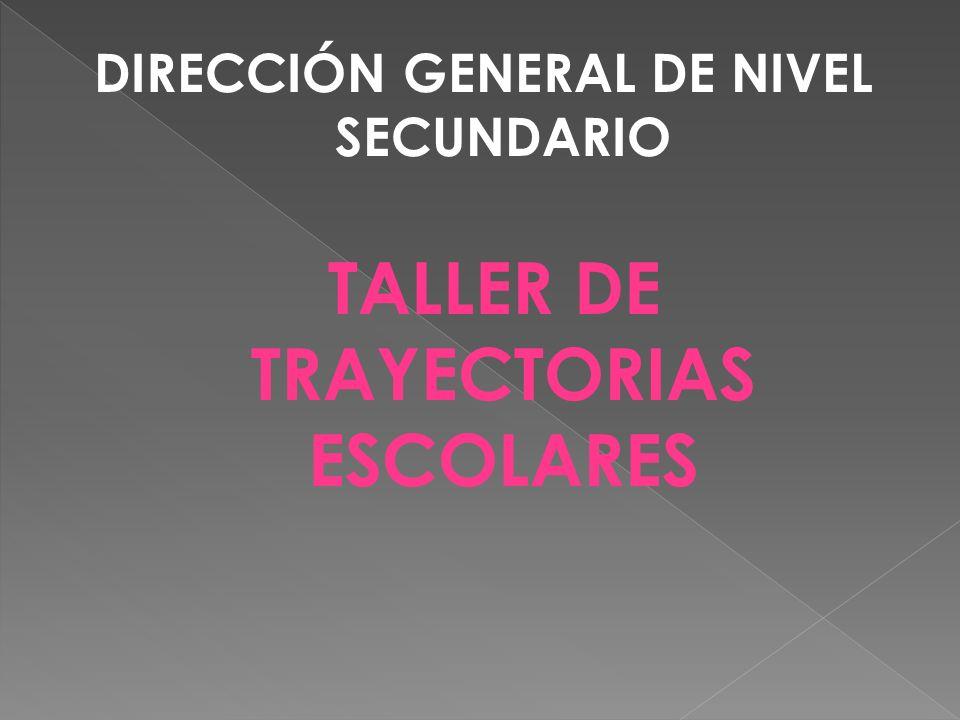 DIRECCIÓN GENERAL DE NIVEL SECUNDARIO TALLER DE TRAYECTORIAS ESCOLARES