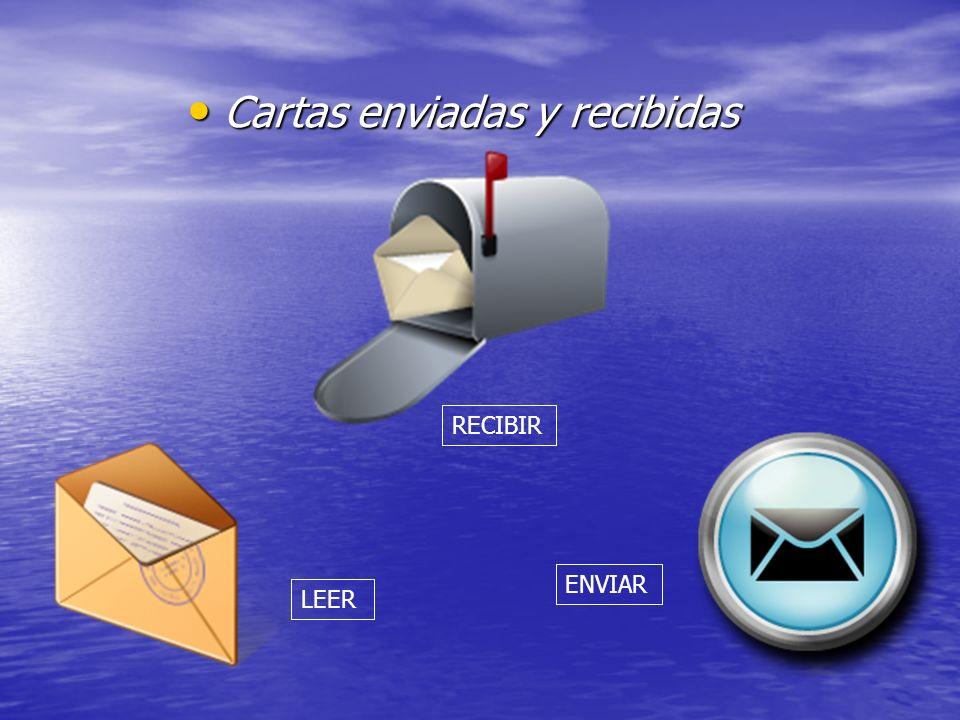 Cartas enviadas y recibidas Cartas enviadas y recibidas ENVIAR RECIBIR LEER