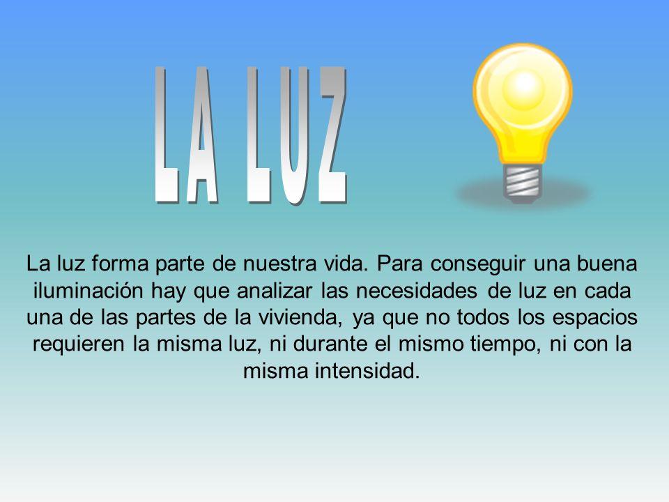 La luz forma parte de nuestra vida. Para conseguir una buena iluminación hay que analizar las necesidades de luz en cada una de las partes de la vivie