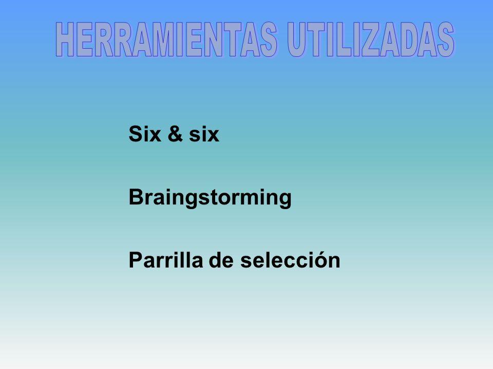 Six & six Braingstorming Parrilla de selección