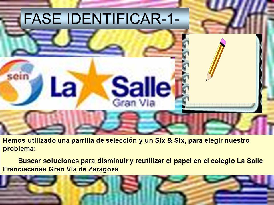 FASE IDENTIFICAR-1- Los beneficios de la solución de este problema son: -Se talan menos árboles para producir el papel.