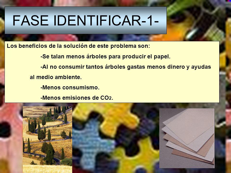 FASE DEFINIR-D- Los parámetros son: Personas que utilizan el papel.