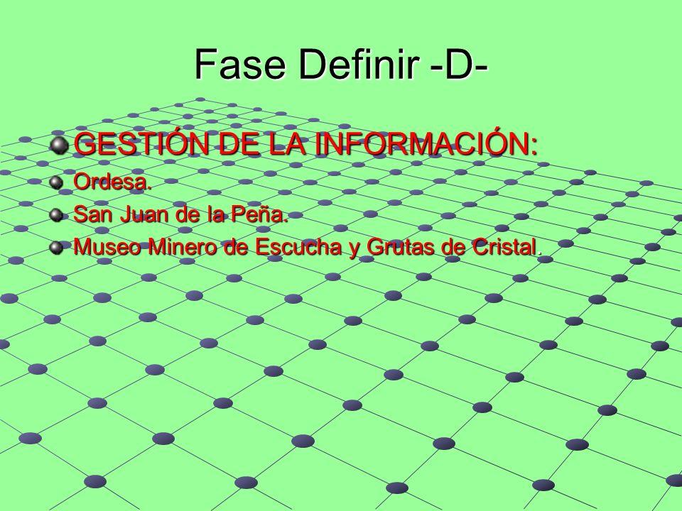 Fase Definir -D- GESTIÓN DE LA INFORMACIÓN: Ordesa.