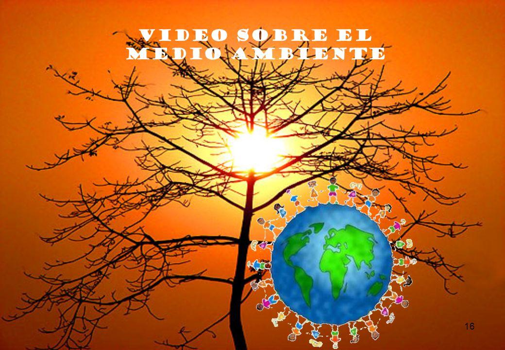 16 VIDEO SOBRE EL MEDIO AMBIENTE