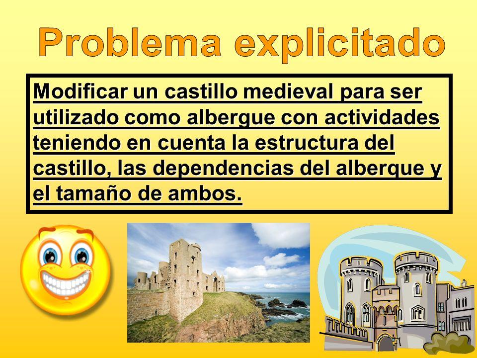 Modificar un castillo medieval para ser utilizado como albergue con actividades teniendo en cuenta la estructura del castillo, las dependencias del al