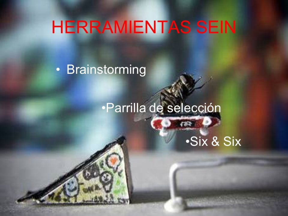 HERRAMIENTAS SEIN Brainstorming Six & Six Parrilla de selección