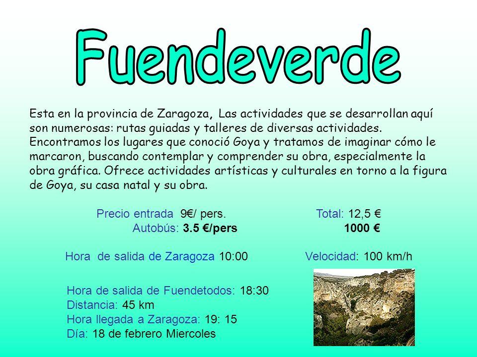 Esta en la provincia de Zaragoza, Las actividades que se desarrollan aquí son numerosas: rutas guiadas y talleres de diversas actividades. Encontramos