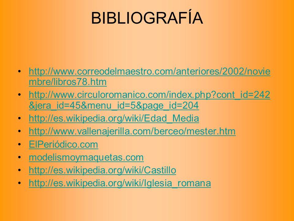 BIBLIOGRAFÍA http://www.correodelmaestro.com/anteriores/2002/novie mbre/libros78.htmhttp://www.correodelmaestro.com/anteriores/2002/novie mbre/libros7