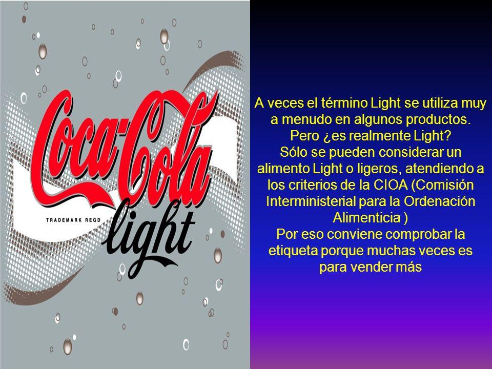 A veces el término Light se utiliza muy a menudo en algunos productos. Pero ¿es realmente Light? Sólo se pueden considerar un alimento Light o ligeros