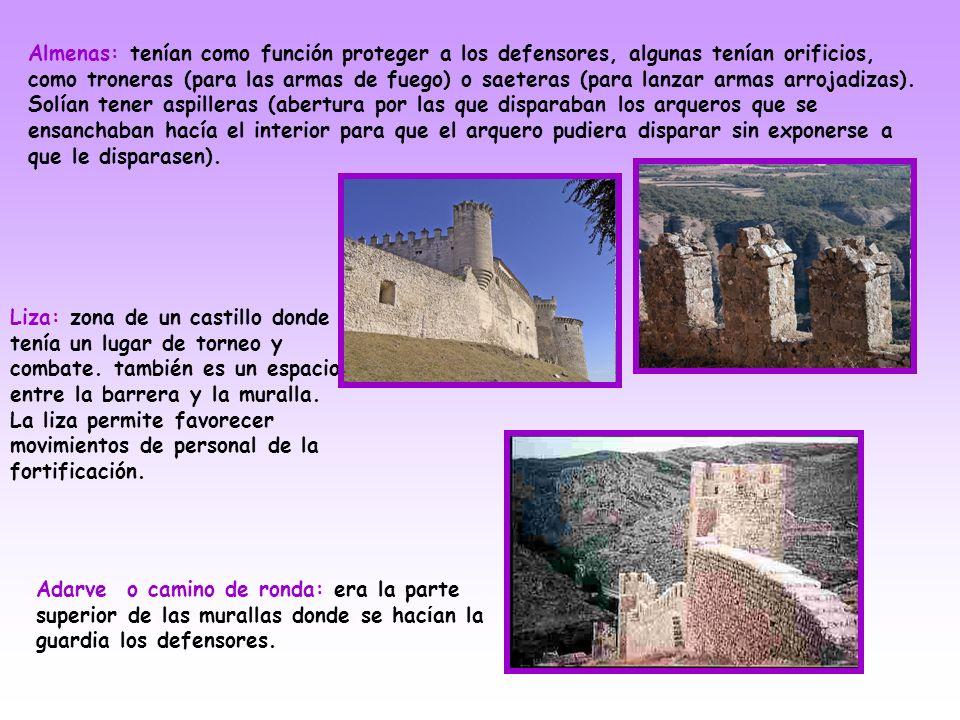 Barbacana: Es una obra de fortificación situada frente a las murallas y protegiendo una puerta de acceso. Podían contar con portales propios fortifica