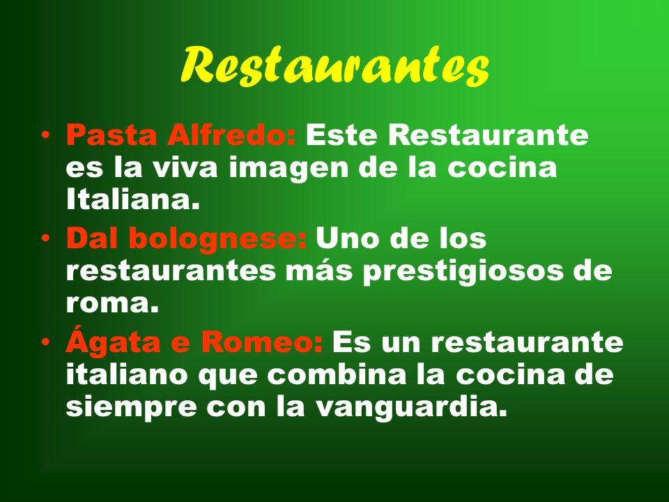 Chefs Héctor Taollini: Es propietario de 5 restaurantes en la capital italiana. Marco Piccolo: Trabaja en uno de los restaurantes de Roma de Héctor Ta
