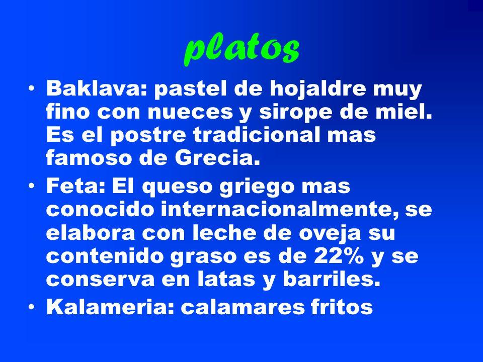 Gastronom í a en general La gastronomía es muy variada se suele vasar en las ensaladas y en los yogures. La gastronomía Griega es un gran ejemplo sobr