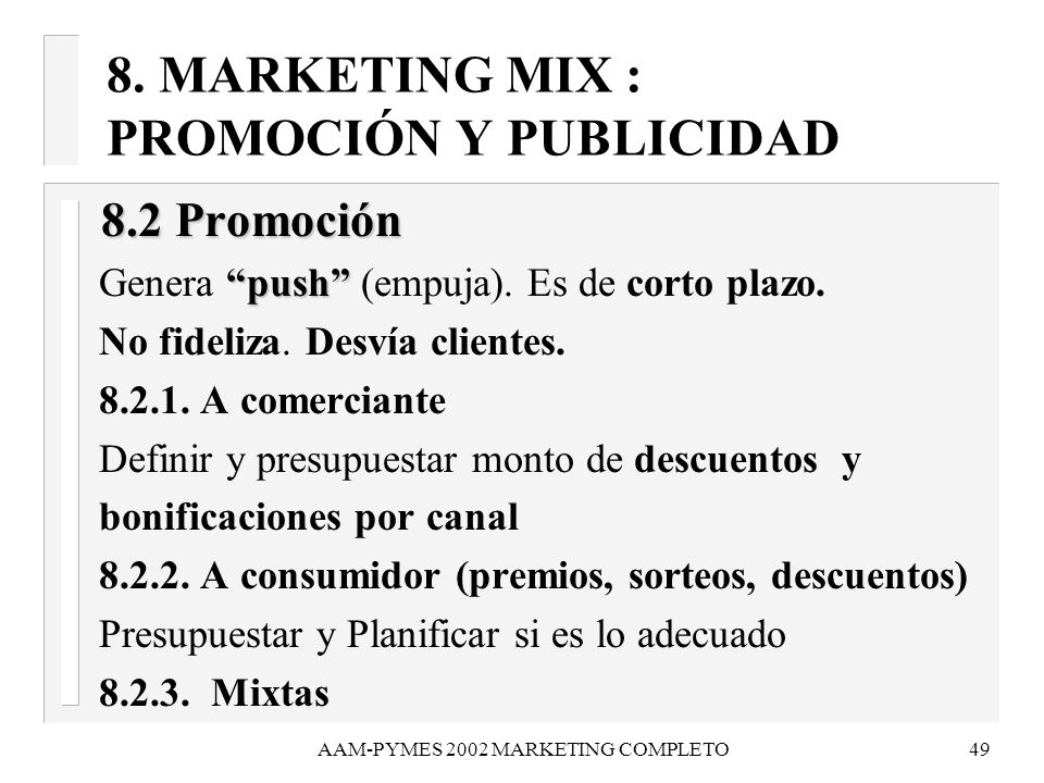 AAM-PYMES 2002 MARKETING COMPLETO50 8.