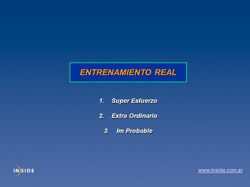 ENTRENAMIENTO REAL 1.Super Esfuerzo 2.Extra Ordinario 3.Im Probable www.inside.com.ar