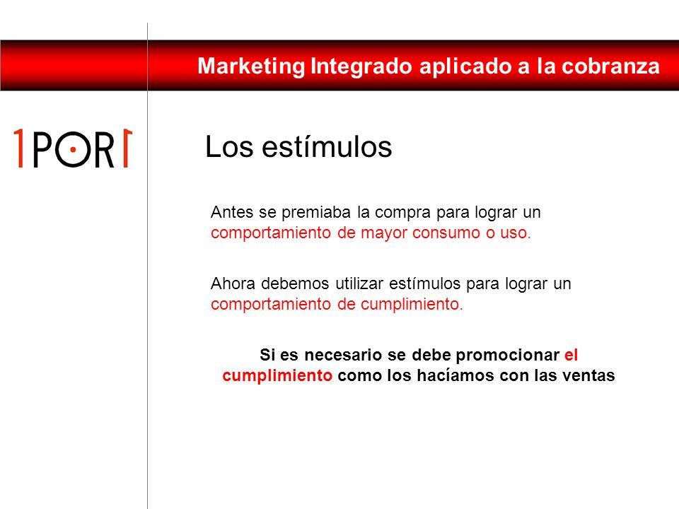 Marketing Integrado aplicado a la cobranza GESTIÓN HABITUAL DE VENTA Y COBRANZA GESTIÓN INTEGRAL DE PRESERVACIÓN DEL ACTIVO Gestión Integral de Cobran